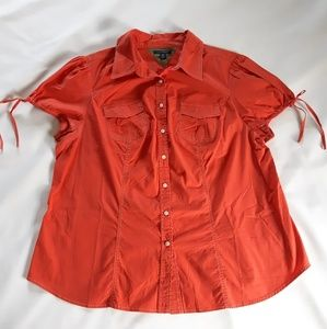 Tommy Hilfiger Red Button Up Top